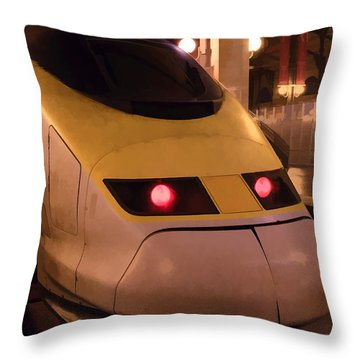 Bullet Train Art Throw Pillow