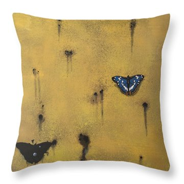 Bullets And Butterflys Throw Pillow