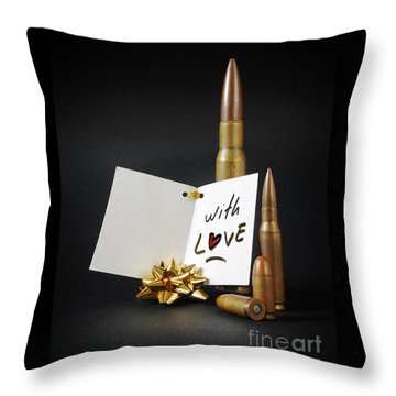 Bullets For You Throw Pillow
