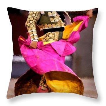 Bullfighter Dance Throw Pillow by Bruce Nutting
