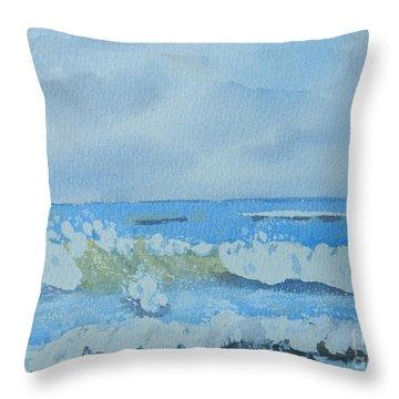 Bulli Beach Throw Pillow by Pamela  Meredith