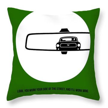 Bullitt Poster 2 Throw Pillow