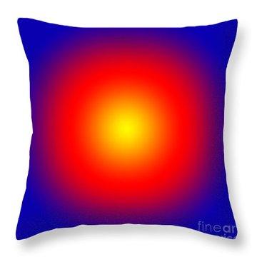 Bullseye  Throw Pillow by Liz  Alderdice