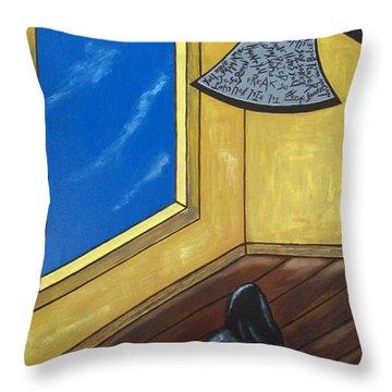 Bully Throw Pillow by Sandra Marie Adams