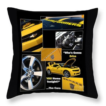 Bumble Bee-drive - Poster Throw Pillow by Gary Gingrich Galleries