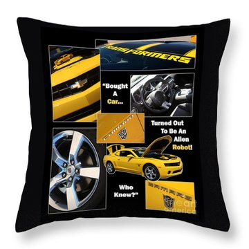 Bumble Bee-robot - Poster Throw Pillow by Gary Gingrich Galleries