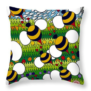 Bumble Throw Pillow by Rojax Art