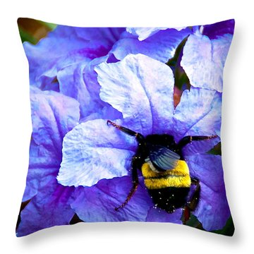 Bumblebee Brunch Throw Pillow
