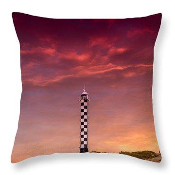 Bunbury Lighthouse Throw Pillow