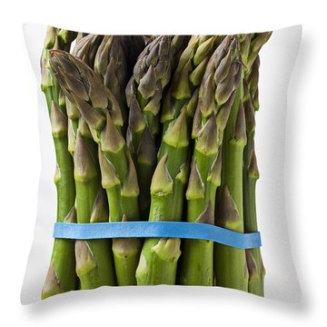 Bunch Of Asparagus  Throw Pillow by Garry Gay