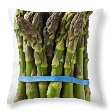 Bunch Of Asparagus  Throw Pillow