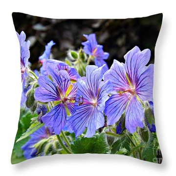 Throw Pillow featuring the photograph Bunches by Clare Bevan