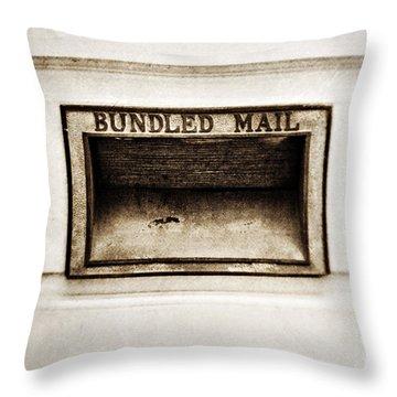 Bundled Mail Throw Pillow by Scott Pellegrin