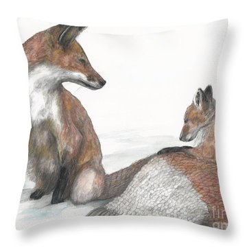 Bundled Up Throw Pillow by Meagan  Visser