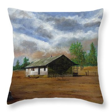 Bunk House Cheyenne Wy Throw Pillow by Stuart B Yaeger