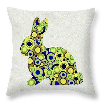 Bunny - Animal Art Throw Pillow by Anastasiya Malakhova