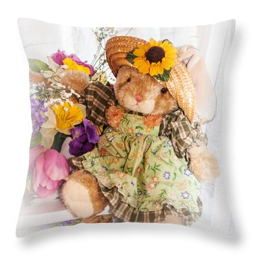 Bunny Expressions Throw Pillow