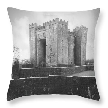 Bunratty Castle - Ireland Throw Pillow by Mike McGlothlen