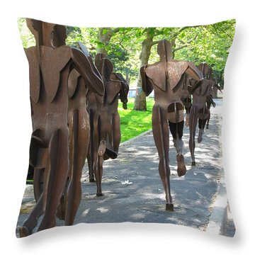 Buns Of Steel Throw Pillow