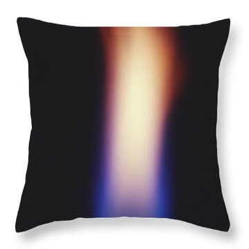Bunsen Burner Flame Throw Pillow