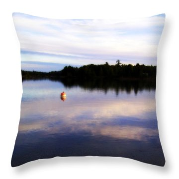 Buoy On The Torch Bayou Throw Pillow by Michelle Calkins