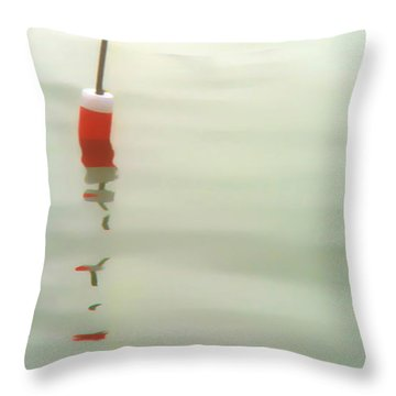 Throw Pillow featuring the photograph Buoy Reflection by Richard Bean