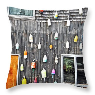 Buoy Wall Throw Pillow