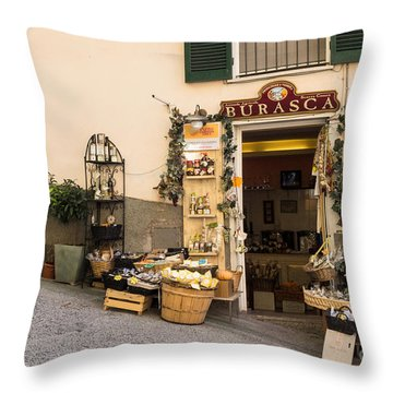 Burasca Shop Of Manarola Throw Pillow