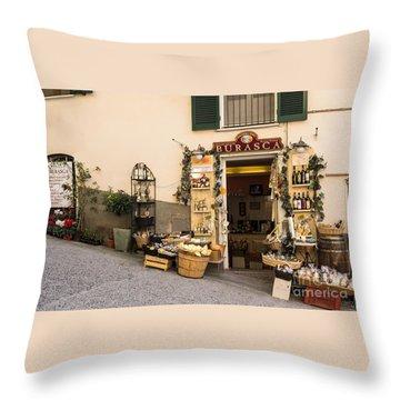 Burasca Shop Of Manarola Throw Pillow