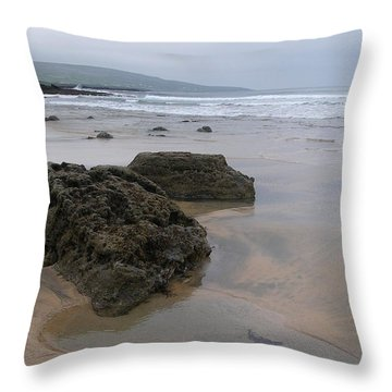 Buren Gold Beach Throw Pillow