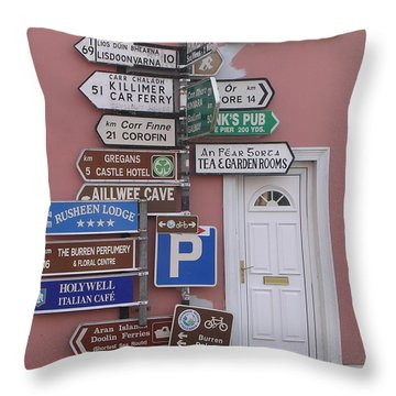 Buren Signs Throw Pillow
