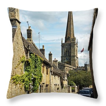 Burford Village Street Throw Pillow