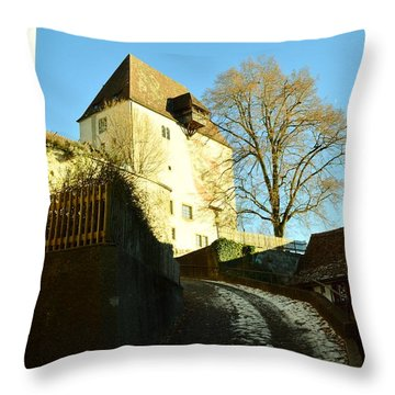 Throw Pillow featuring the photograph Burgdorf Castle In December by Felicia Tica