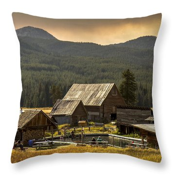 Burgdorf Hot Springs In Idaho Throw Pillow