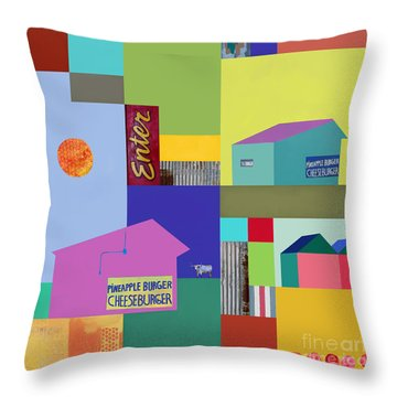 Burger Joint #3 Throw Pillow by Elena Nosyreva
