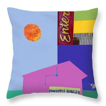 Burger Joint Throw Pillows