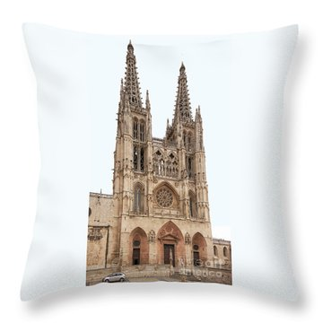Burgos Cathedral Spain Throw Pillow by Rudi Prott