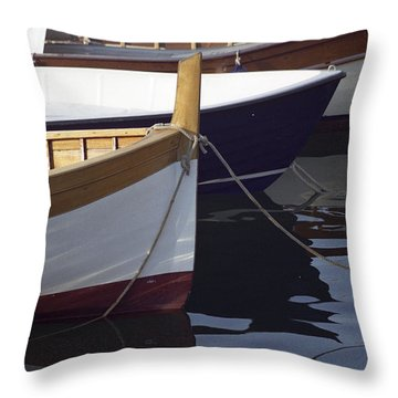 Burgundy Boat Throw Pillow