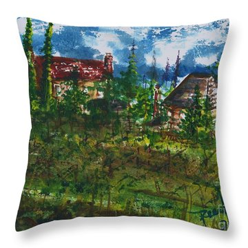 Burgundy In The Morning  Throw Pillow