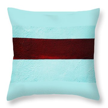 Burgundy Stripe Throw Pillow by Marcia Lee Jones