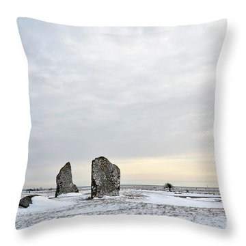 Throw Pillow featuring the photograph Burial Ground Stones by Kennerth and Birgitta Kullman
