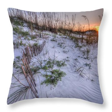 Throw Pillow featuring the digital art Buried Fences by Michael Thomas