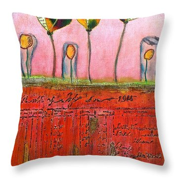 Buried Ledger Throw Pillow by Bellesouth Studio