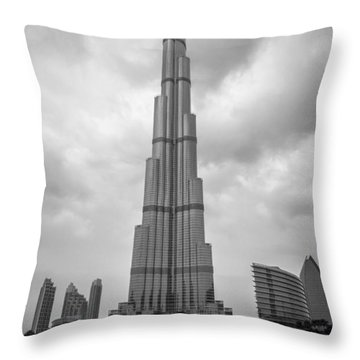 Throw Pillow featuring the photograph Burj Khalifa by Robert  Aycock