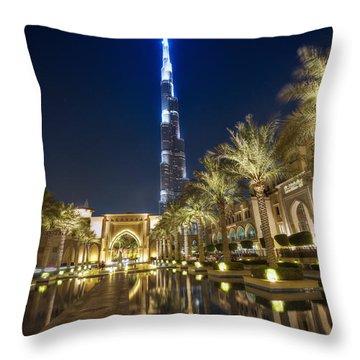 Burj Khalifa Swoard Throw Pillow by John Swartz
