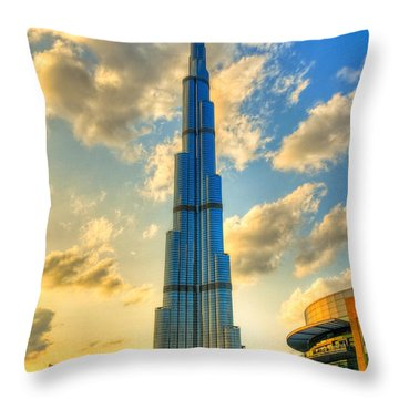 Burj Khalifa Throw Pillow by Syed Aqueel