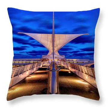 Burke Brise Soleil At Blue Hour Throw Pillow