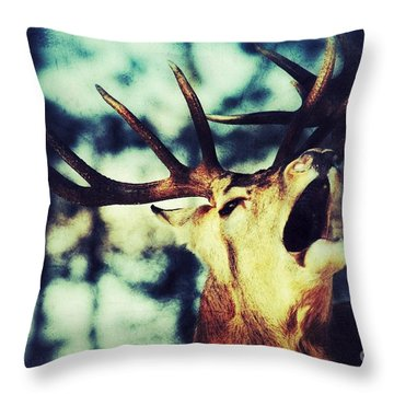 Throw Pillow featuring the photograph Burling Deer by Nick  Biemans
