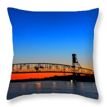 Burlington Bristol Bridge Throw Pillow by Olivier Le Queinec