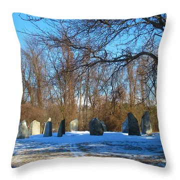 Burlington Earth Clock January 2015 Throw Pillow